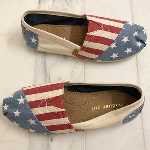 Madden Girl American Flag espadrilles size 6.5🇺🇸